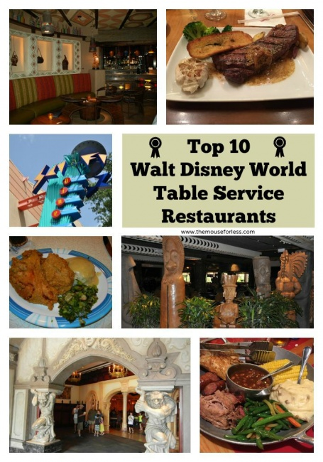 Top 10 Disney Themed Table Service Restaurants