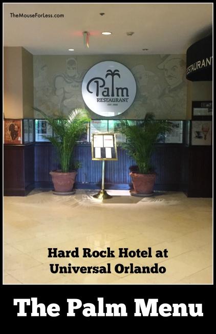 The Palm Menu