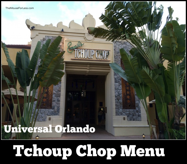Emeril's Tchoup Chop Menu