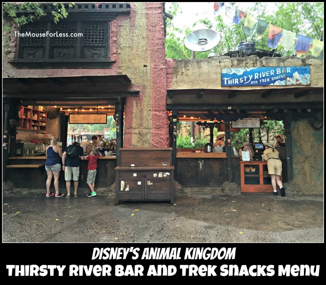 Thirsty River Bar and Trek Snacks Menu