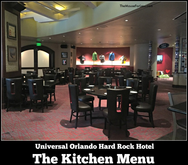 The Kitchen Menu