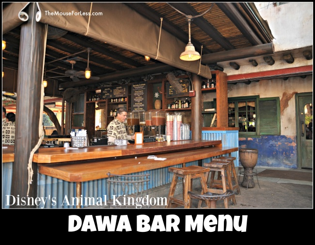 Dawa Bar menu