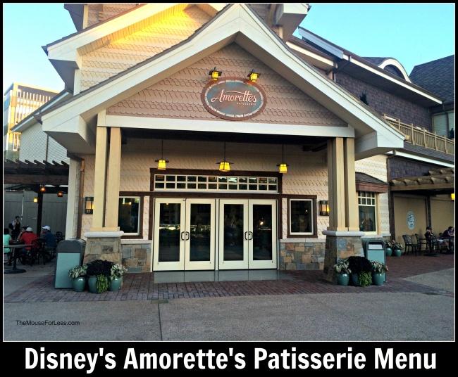 Amorette's Patisserie Menu #DisneySprings #WaltDisneyWorld