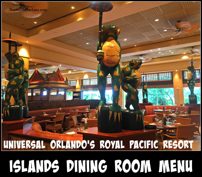 Islands Dining Room Menu
