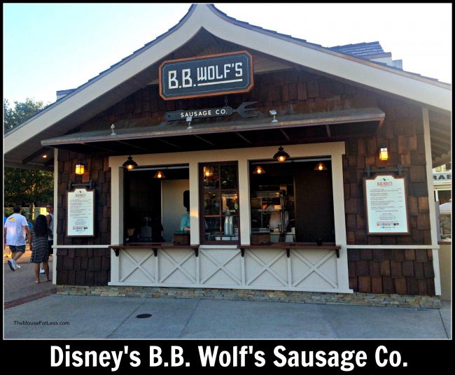B. B. Wolf's Sausage Co Menu