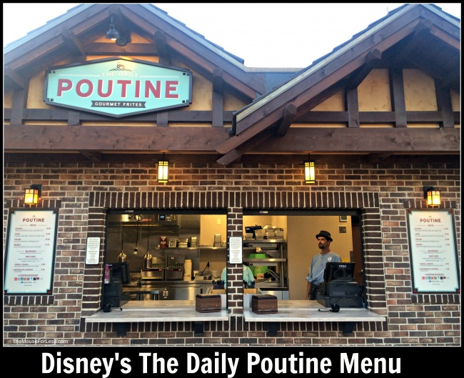 Daily Poutine Menu