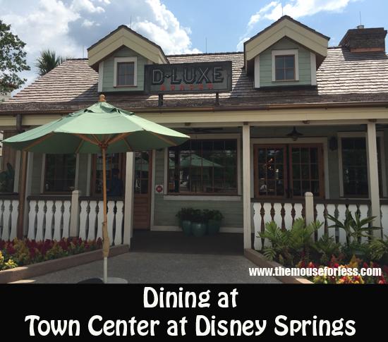 Dining at Town Center at Disney Springs