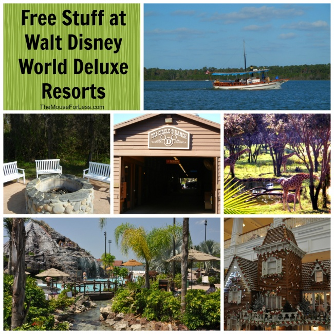 Free Stuff at Deluxe Resorts