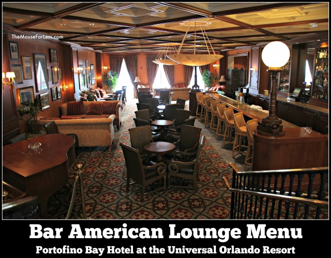 Bar American Lounge Menu
