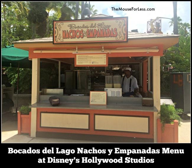 Bocados del Lago Nachos y Empanadas Menu