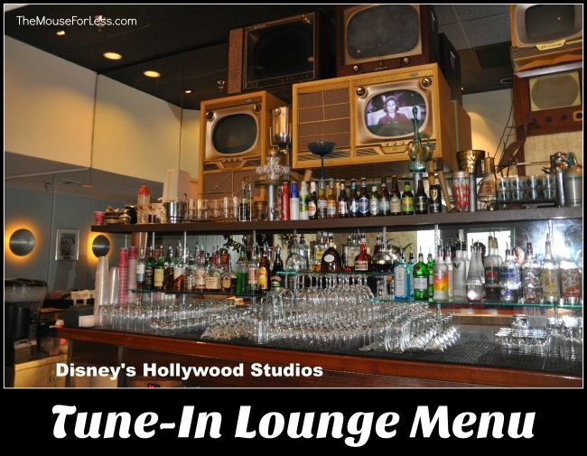 Tune-In Lounge Menu