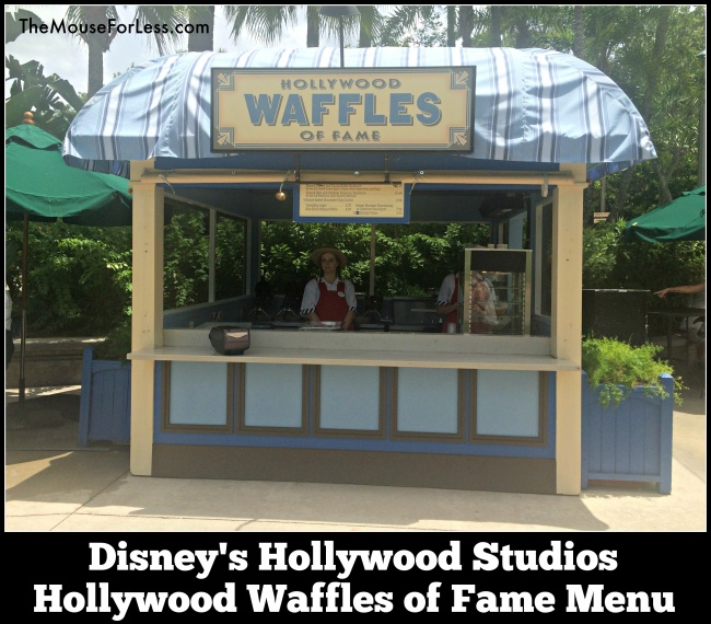 Hollywood Waffles of Fame Menu