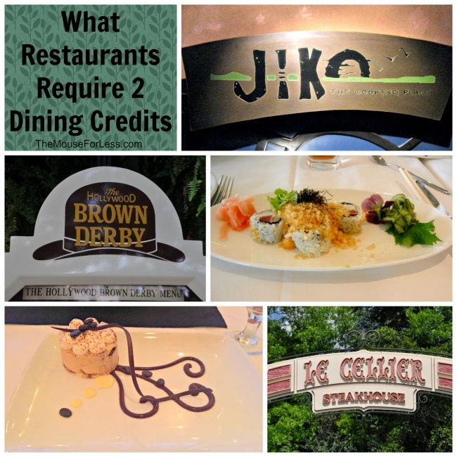 Walt Disney World Two Table Service Credit Restaurants - Walt disney world table service restaurants