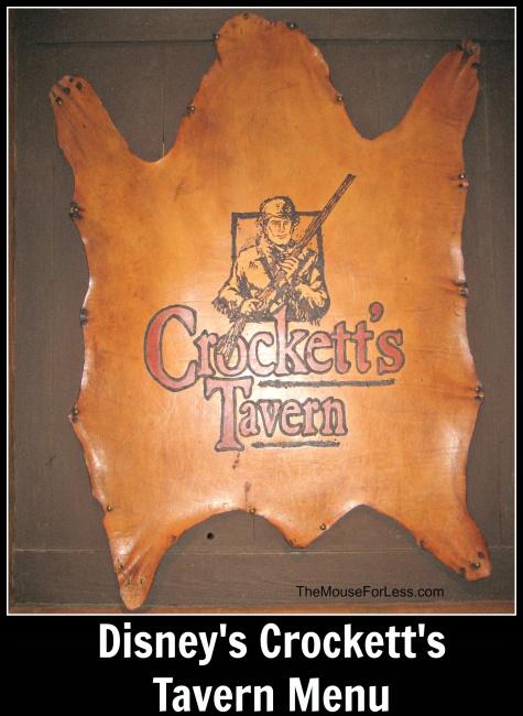 Crockett's Tavern Menu