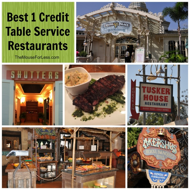 Best One Table Service Credit Restaurants