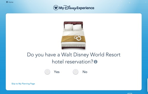 adding plans to My Disney Experience AddingReservations1