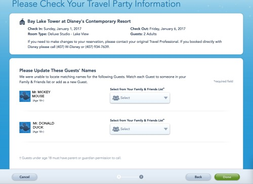 adding plans to My Disney Experience AddingReservations4