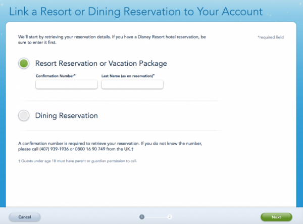 adding plans to My Disney Experience Adding reservations3