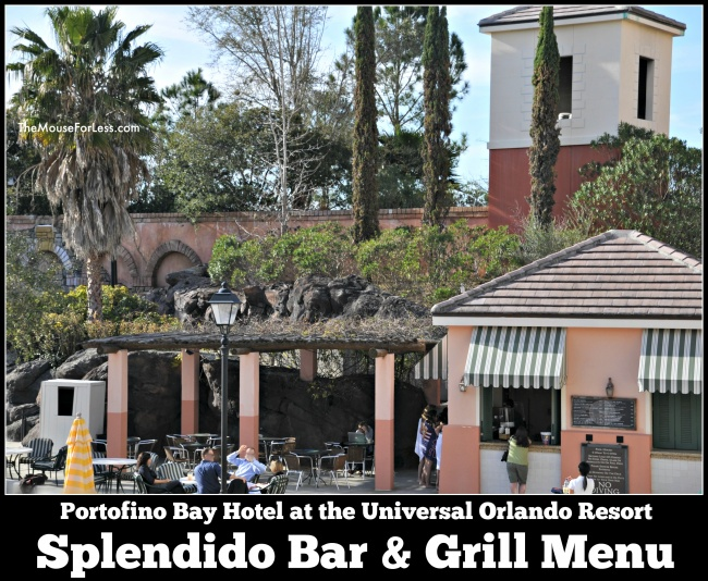 Splendido Bar & Grill Menu