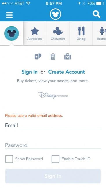 MDE App Sign in