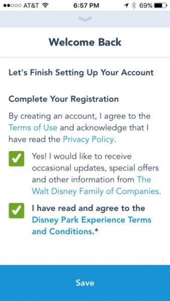 MyDisneyExperience Terms and Conditions
