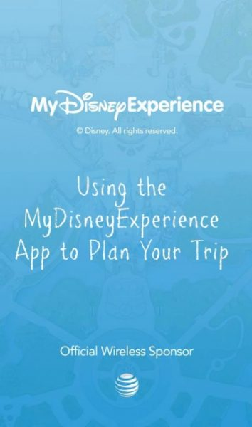 MyDisneyExperience App | Mobile Options for Planning