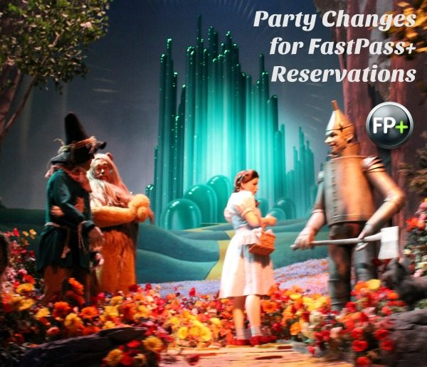 Party Changes for FastPass Reservations