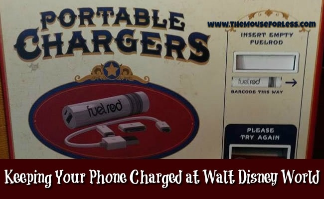 Keeping Your Phone Charged at Walt Disney World