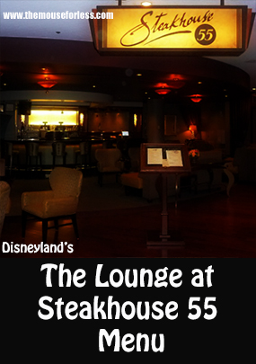 Steakhouse 55 Lounge Menu