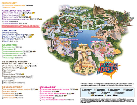 Universal Orlando Maps including theme parks and resort maps