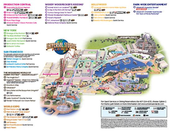 Universal Orlando Map