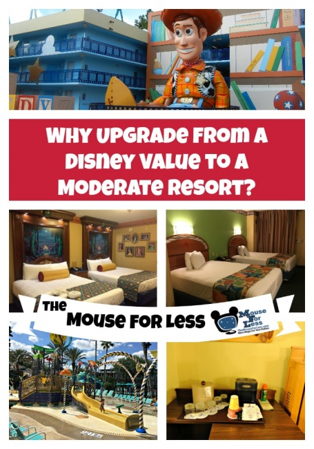upgrade from a value resort to a moderate resort