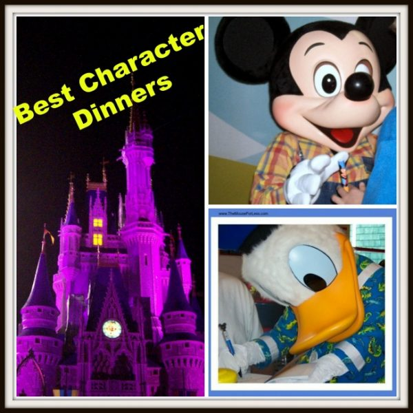 Walt Disney World Best Character Dinner