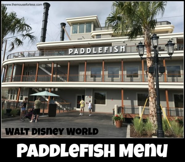 Paddlefish Menu