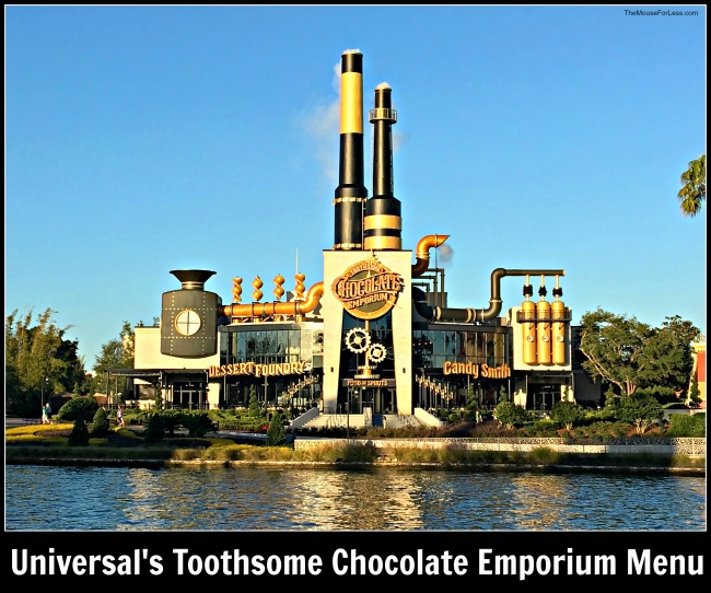 Universal's Toothsome Chocolate Emporium Menu