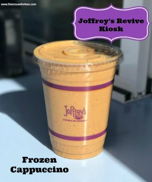 Frozen Cappuccino at Joffrey's Revive Kiosk