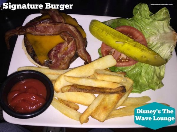 The Wave Lounge Signature Burger
