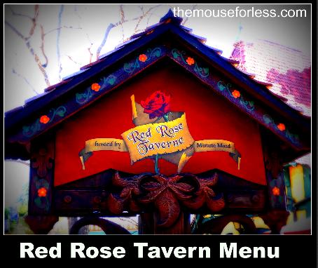 Red Rose Taverne Menu