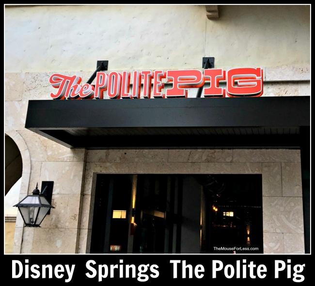 The Polite Pig Menu