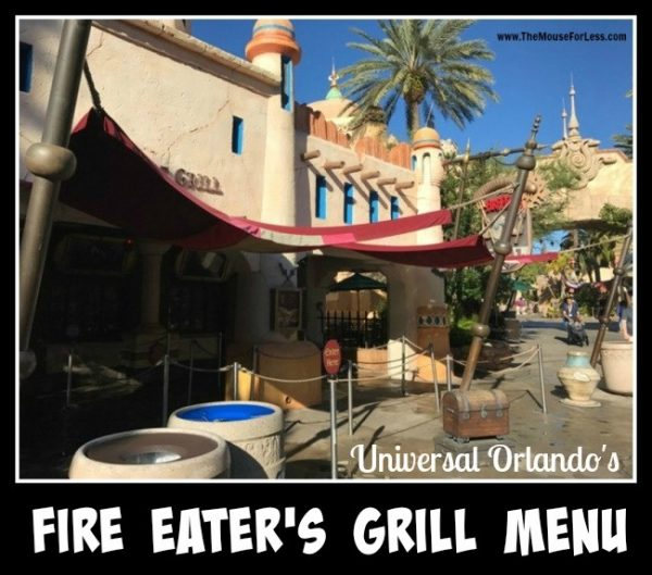 Fire Eater's Grill Menu