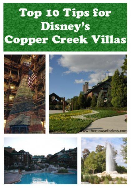 Copper Creek Villas at Disney's Wilderness Lodge Top Ten Tips