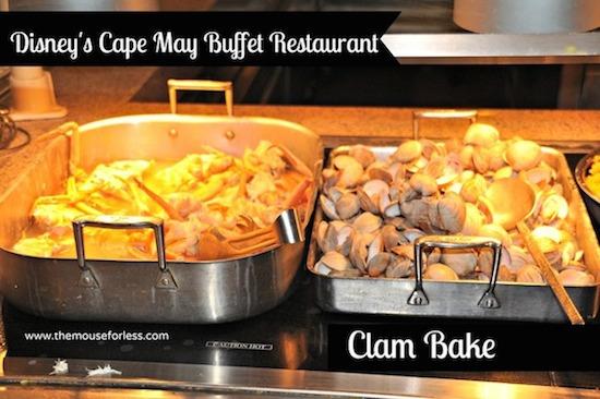 Cape may cafe buffet menu disney s beach club resort
