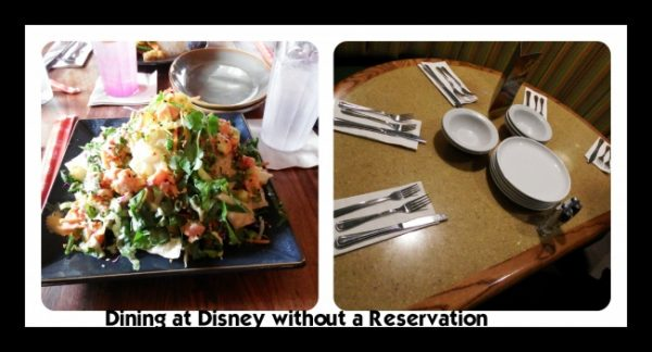 Tips for Dining at Walt Disney World without an Advanced Dining Reservation