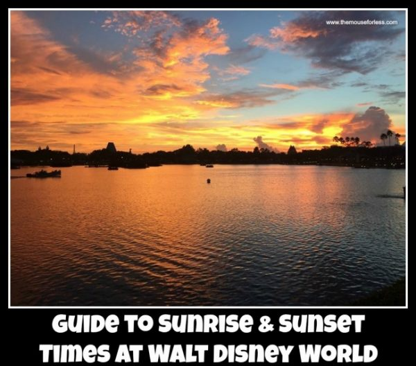Sunrise & Sunset Times at Walt Disney World