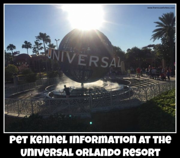 pet kennels at Universal Orlando Resort