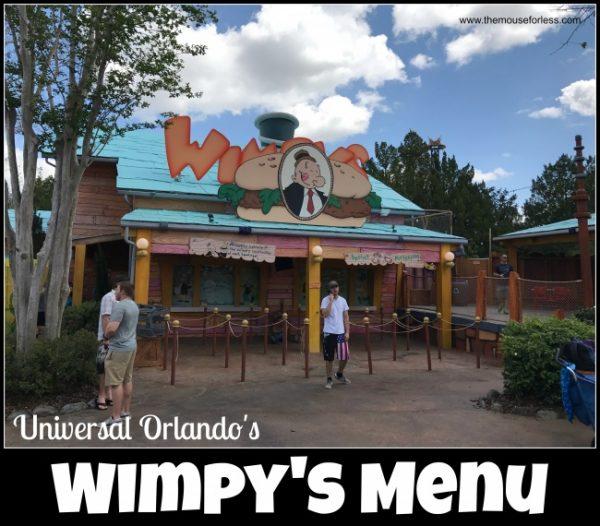 Wimpy's Menu | Universal Orlando Resort