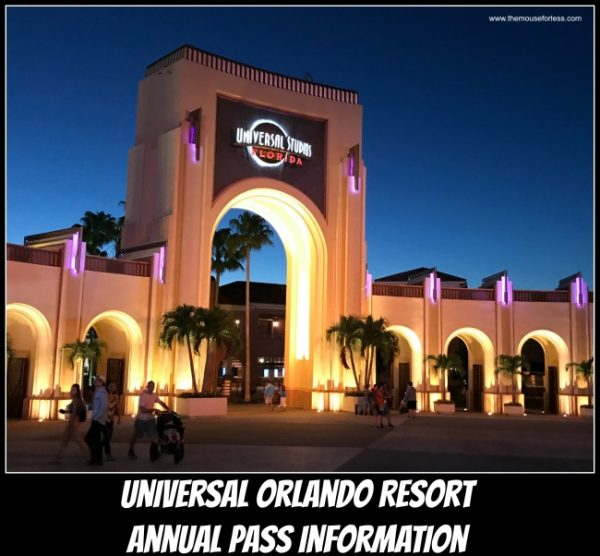 Universal Orlando Resort Annual Pass Information