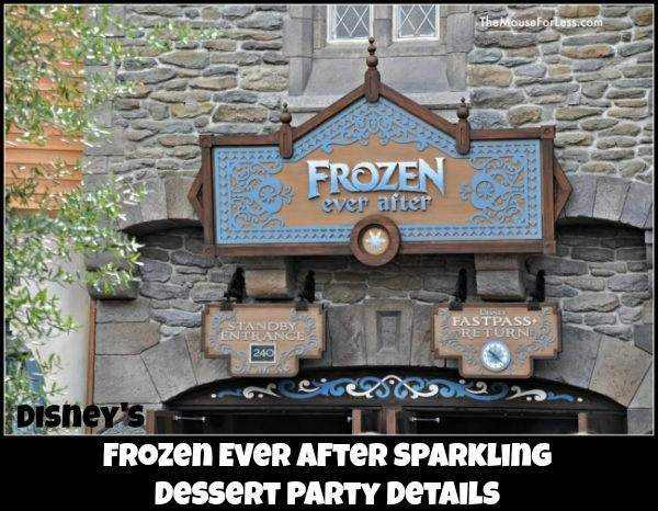 Frozen Ever After Sparkling Dessert Party Details