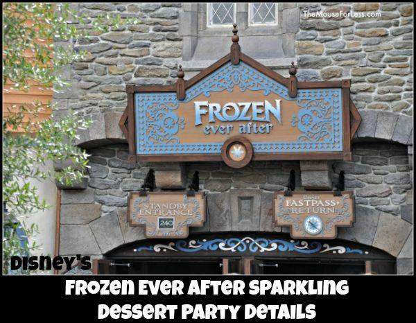 Frozen Ever After Sparkling Dessert Party Details