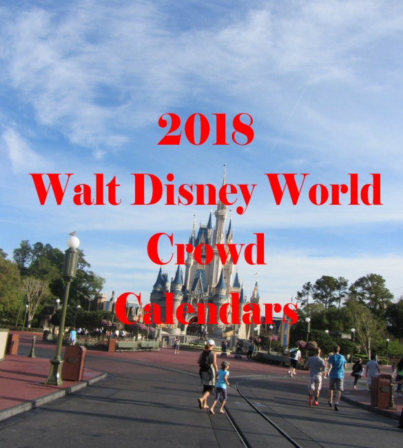 walt disney world crowd calendar for the 2018 calendar year